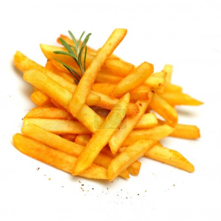 Photo for French fries, isolated - Royalty Free Image