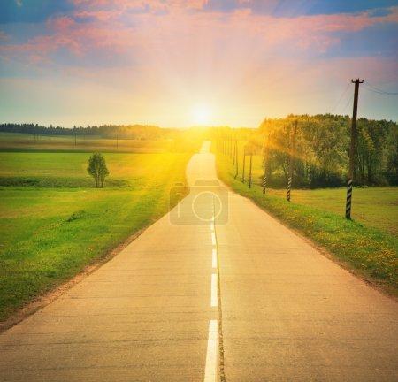 road in sunlight
