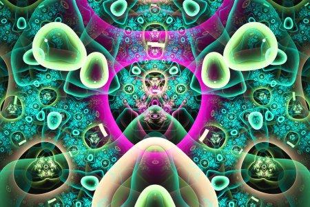 Photo pour Art abstrait fond de couleur vive, mieux vu de nombreux détails lorsqu'il est vu à pleine taille - image libre de droit