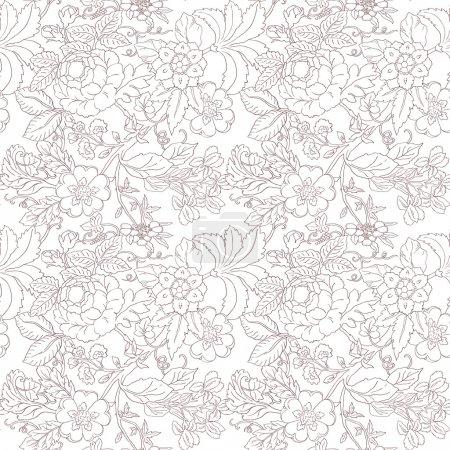 Vintage flower pattern...