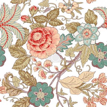 Illustration for Vintage flower pattern - Royalty Free Image