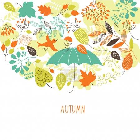 Illustration pour Illustration d'automne - image libre de droit