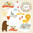 Set of animals illustrations and graphic elements ...