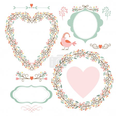 Illustration for Banners, floral frames and graphic elements - Royalty Free Image