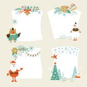 Christmas banners set vector