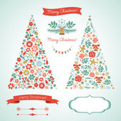 Christmas tree graphic elements holiday symbols