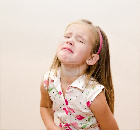 Photo for Portrait of disobedient crying little girl - Royalty Free Image