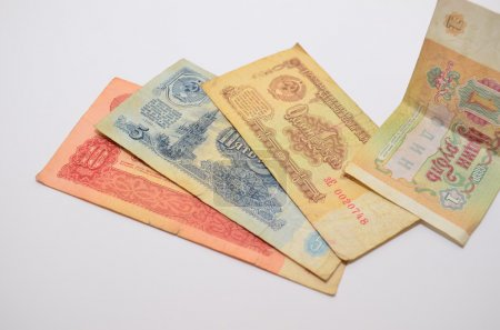 """The one - """"wooden"""" ruble. Soviet money - rubles"""