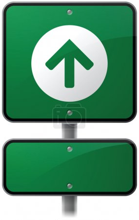 Green Forward Arrow Sign