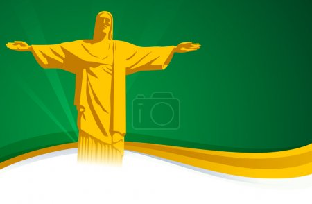 Brazil background with space for text.