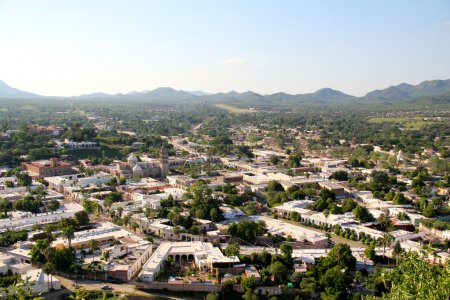 Panoramic view of a historic village in Sonora