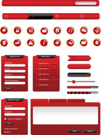 Illustration pour Ensemble d'éléments de conception moderne vecteur web - image libre de droit