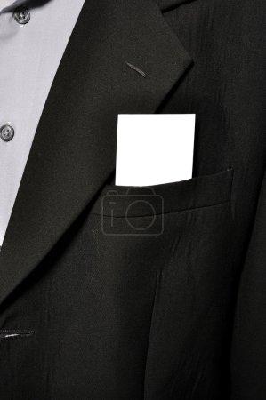Blank Card In Pocket