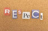 Slovo respekt z novin dopis