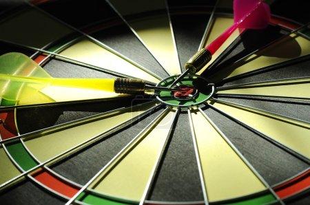 Dart Arrows On The Dartboard