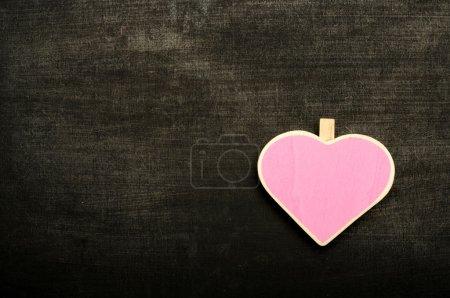 Heart Shape Sign On The Chalkboard