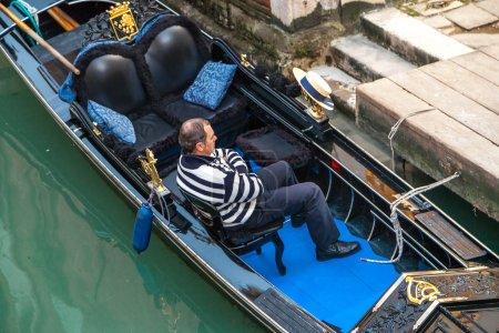 Gondola with driver, Venice, Italy