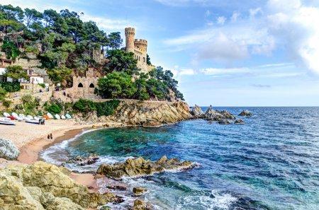 Photo pour Mer Méditerranée, à la costa brava - sant Château de joan, lloret de mar, Espagne - image libre de droit