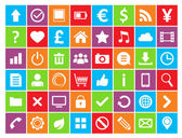 48 Universal Colored Icons For Web and Mobile in vector