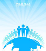 World community - vector illustration