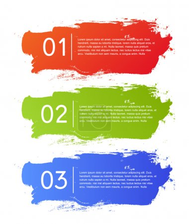 Illustration for Brush strokes infographics options banner. Vector illustration. can be used for workflow layout, diagram, number options, web design. - Royalty Free Image