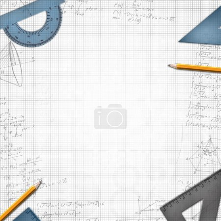 Photo for Mathematic school design background illustration - Royalty Free Image
