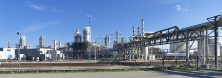 Photo for Oil refinery at the Maasvlakte, the Rotterdam harbor area - Royalty Free Image