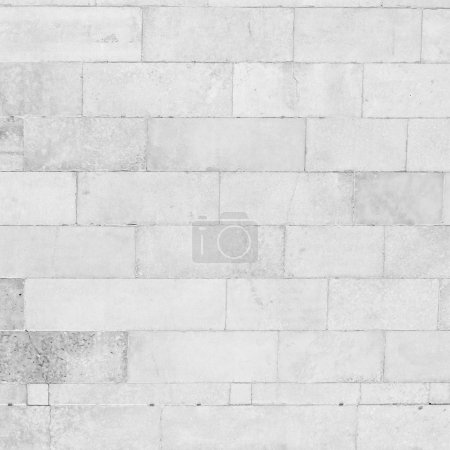 White brick wall background, grunge background