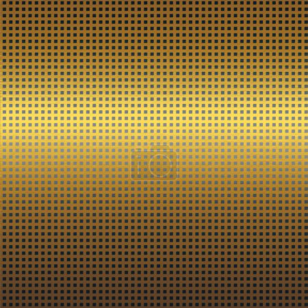 Gold metal texture with black grid seamless pattern background