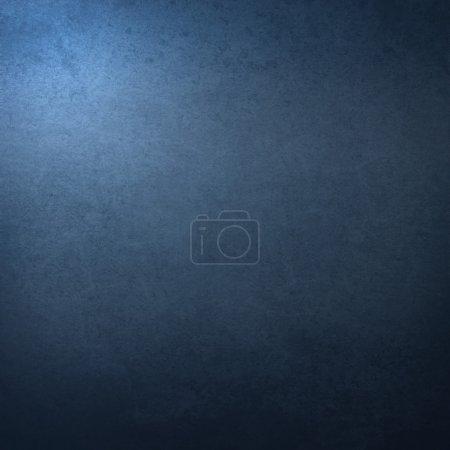 Photo pour Fond bleu foncé avec coin de surbrillance abstrait et texture de fond grunge vintage - image libre de droit