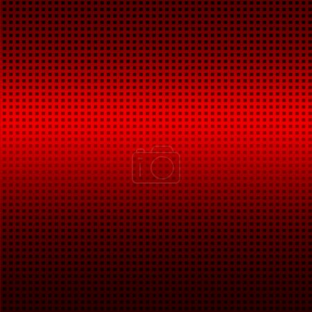 Red background with black grid pattern texture, industrial background