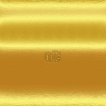 Photo pour Fond de texture en métal or avec des lignes horizontales de la lumière, peut utiliser pour insérer du texte ou la conception - image libre de droit