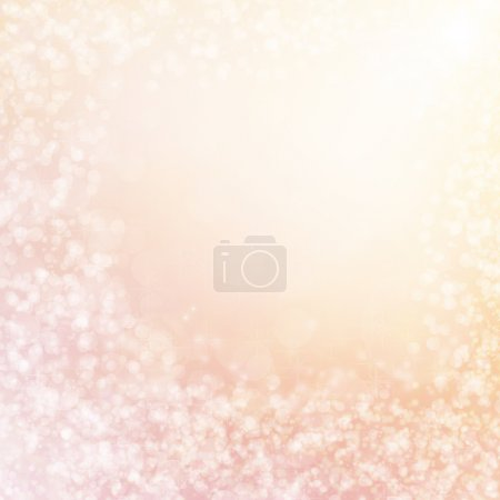 Christmas lights background with delicate stars, snowflakes, sparkles and copy space for text