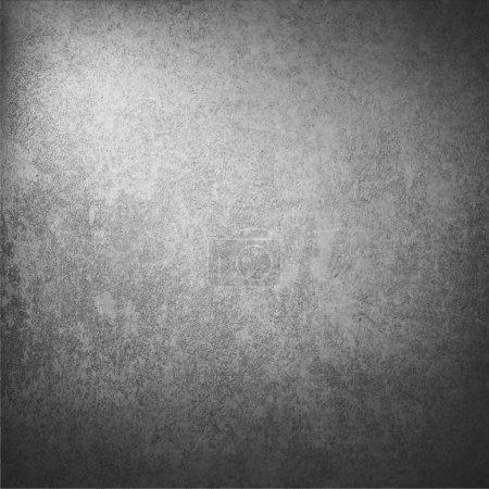 Photo pour Fond de texture murale gris foncé avec surbrillance abstraite et coins vignettés comme texture de fond grunge vintage - image libre de droit