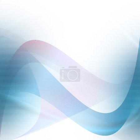 Photo pour Blanc et bleu abstrait fond vague lignes texture - image libre de droit