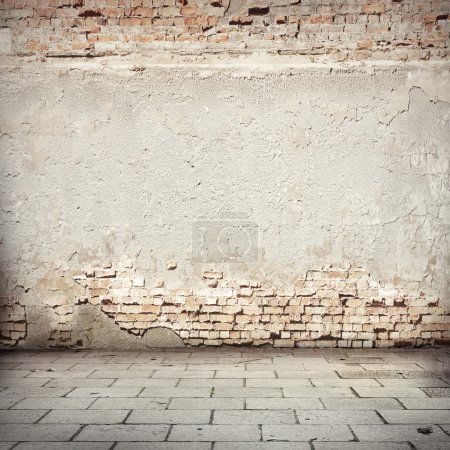 Grunge background, red brick wall texture bright p...