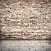 """Постер, картина, фотообои """"гранж-фон, красного кирпича стены текстуры яркие штукатурка стены и блоки дороги тротуаре отказались от внешней городской фон для вашего проекта или концепции"""""""