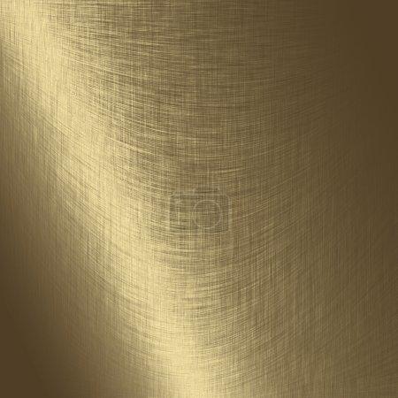 Photo pour Texture métal doré, fond métal rayé - image libre de droit