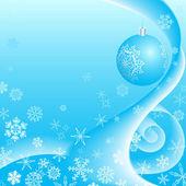 Vánoční pozadí s sněhové vločky a copyspace