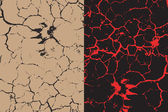 A set of two cracks textures with animal s trace