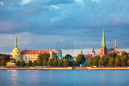 View of Riga Castle, Cathedral, St. Peter's Church