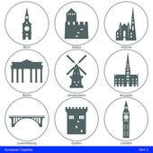 European Capitals - Icon Set (Part 2)