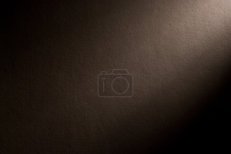 Photo for Brown background illuminated from the right corner spotlight and vintage grunge background texture, black and white background for printing monochrome brochure, web ad, elegant dark gradient - Royalty Free Image