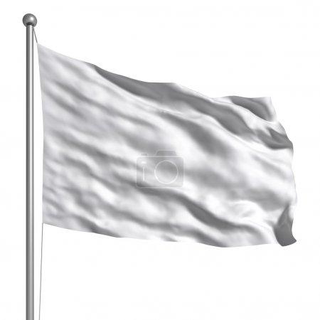 Photo pour Drapeau blanc - image libre de droit
