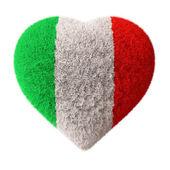 Vlajka Itálie - nadýchané srdce