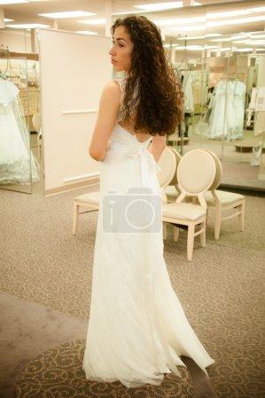 Trying Wedding Dress