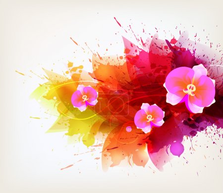 Abstract floral artistic element