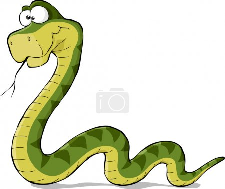 Snake on a white background vector illustration...