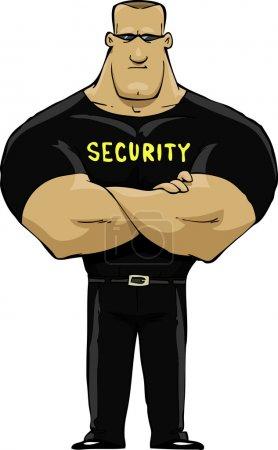 Illustration pour Gardien de sécurité sur fond blanc illustration vectorielle - image libre de droit