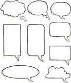 Set of comic speech bubbles vector illustration